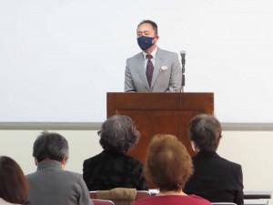 関本清人理事長:理事長挨拶・華道部報告
