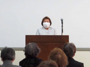 湯浅幸子副理事長:閉会の言葉
